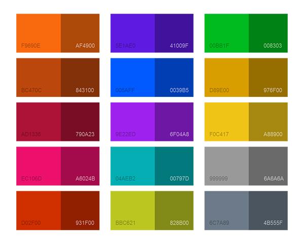 90 Color pallet